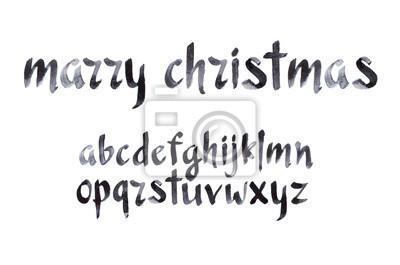 Aquarell aquarelle Schriftart handschriftliche Hand gezeichnet doodle ABC Alphabet Kleinbuchstaben