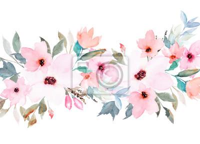 Aquarell Blumenschablone Fur Hochzeitskarten Einladungen Ostern