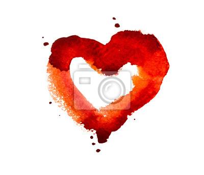 Aquarell-Herz
