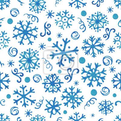 Aquarell Schneeflocken