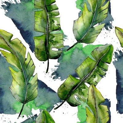 Fototapete Aquarellblatt für Hintergrund, Beschaffenheit, Verpackungsmuster, Rahmen oder Grenze.