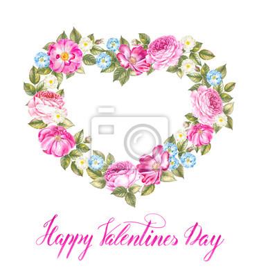 Aquarellrose Von Einladungskarten Mit Blumenelementen Und