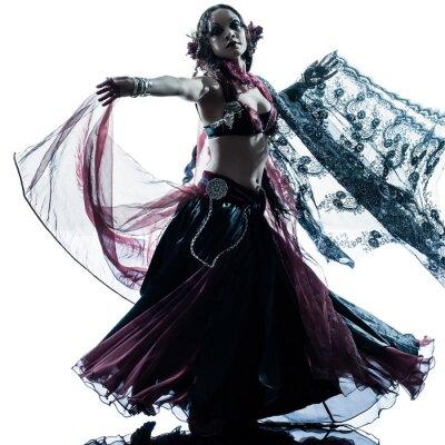 Fototapete arabische Frau Bauchtänzerin tanzt