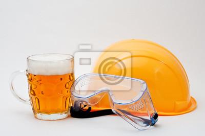 Arbeiter auf einem Bier Bremse