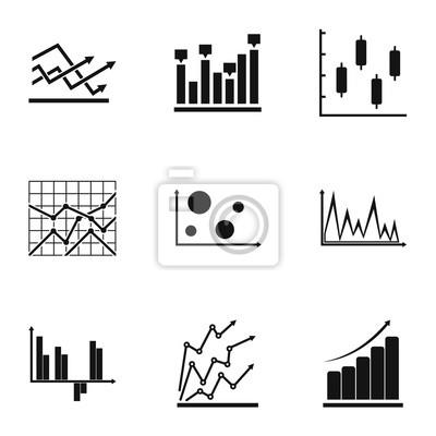 Arbeitsblatt symbole festgelegt. einfacher satz von 9 ...