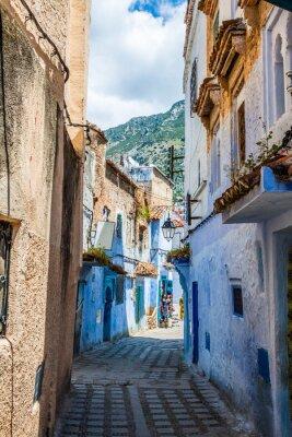 Fototapete Architektonisches Detail in Chefchaouen, Marokko, Afrika