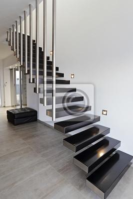 Architektur escalier moderne intérieur maison design fototapete ...
