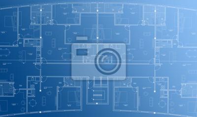 Architektur Grundriss architektur grundriss hintergrund blaupause stil abstrakt fototapete