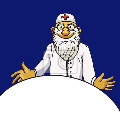 Art Arzt Vektor-Zeichen auf blauem Hintergrund isoliert
