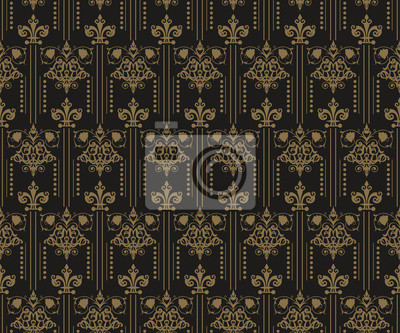 Fototapete: Art deco, nahtloses muster, königliche tapete