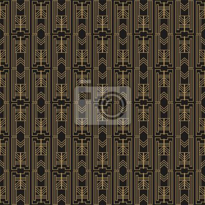 Art-deco-tapete im vintage-stil. abstraktes geometrisches art ...