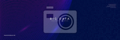 Fototapete Artificial intelligence background. Digital technology, deep learning and big data concept. Abstract tech visual for science template. Partical artificial intelligence background.