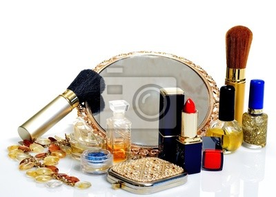 Spiegel Make Up : Artikel für die dekorative kosmetik make up spiegel und blumen