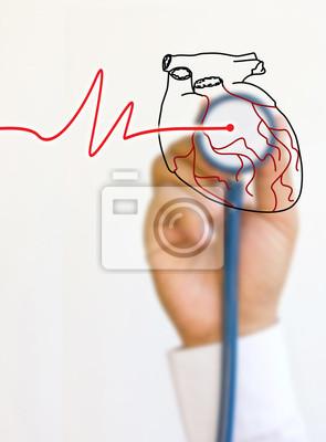 Ärzte Stethoskop und Händen.