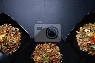 Fototapete: Asiatische küche mahlzeiten rezept. gesunde gemüsesalate.  vegetarische
