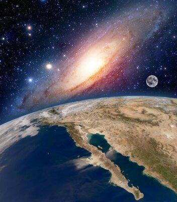 Fototapete Astrologie Astronomie Erde Big Bang Raum Sterne Mond Planeten milchig Weg Galaxie. Elemente dieses Bildes von der NASA eingerichtet.