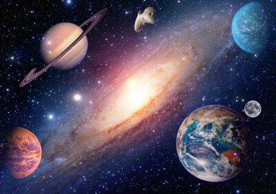 Fototapete Astrologie astronomie erde mond weltraum mars saturn sonnensystem planeten galaxie. Elemente dieses Bildes von der NASA eingerichtet.
