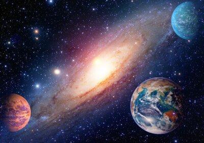 Fototapete Astrologie astronomie erde weltraum sonnensystem mars planet milchig weg galaxie. Elemente dieses Bildes von der NASA eingerichtet.