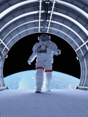 Fototapete Astronaut in den Tunneln