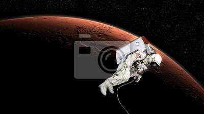 Astronaut in Mars-Umlaufbahn
