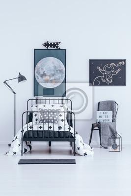 Fototapete: Astronaut poster im schlafzimmer innenraum