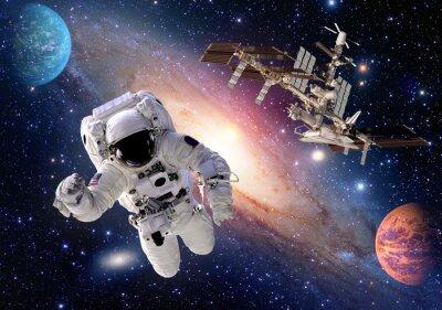 Fototapete Astronaut spaceman Anzug Leute Planeten Weltraum Shuttle Station Raumschiff. Elemente dieses Bildes von der NASA eingerichtet.
