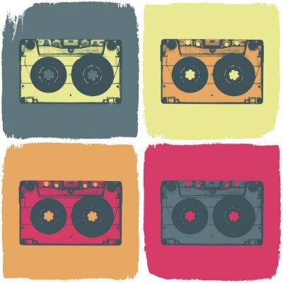 Audio-Kassette Pop-Art-Konzept. Vector, EPS8