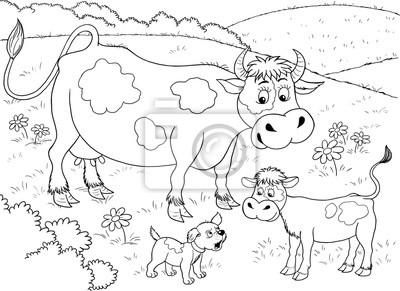 malvorlage kuh bauernhof