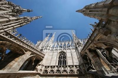 auf dem Dach terrance von Milano Duomo, Italien