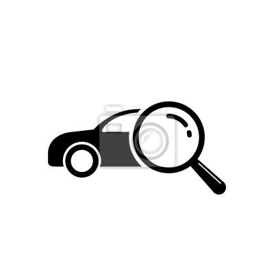 Auf Der Suche Nach Auto Verkauf Symbol Lupe Suchen Auto Vektor