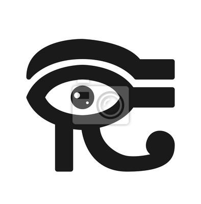 Auge des horus-ikone. ägyptisches zeichen. vektorbestand fototapete ...