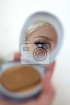 Auge Im Spiegel Kompakt Fototapete Fototapeten Augenbraue