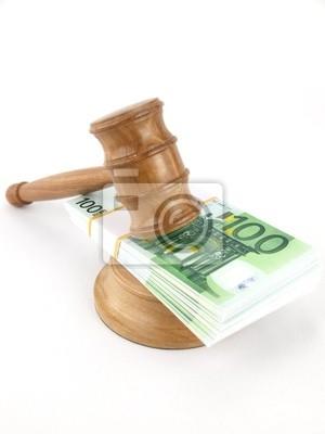 Auktion Hammer und Euro