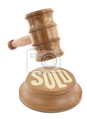 Auktions-Konzept mit hölzernen Hammer