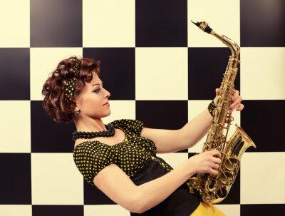 Fototapete Ausdrucksvollen Saxophonisten