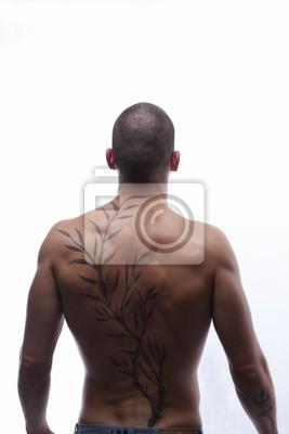 Tattoo mann rücken Dreieck Tattoo