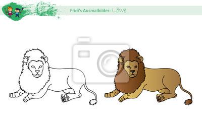 Fototapete Ausmalbild Löwe