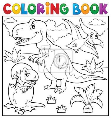 Ausmalbilder Dinosaurier Thema 9 Fototapete Fototapeten