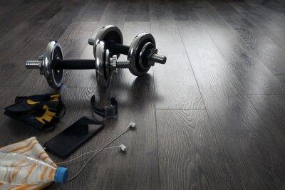 Fototapete Ausrüstung für Fitness