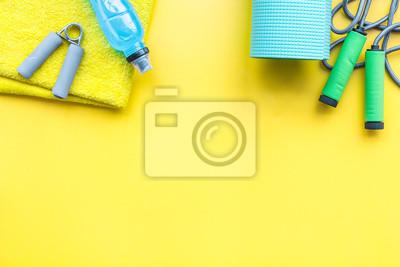 Ausrüstung für fitnessstudio und zuhause. fototapete • fototapeten ...