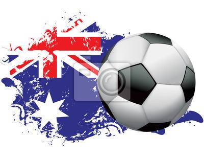 Australien-Fußball-Schmutz-Entwurf