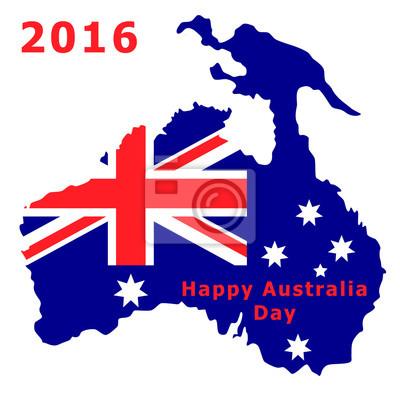 Australien Tag 2016. Die Nationalflagge. Vektor-Illustration isoliert auf weißem Hintergrund.