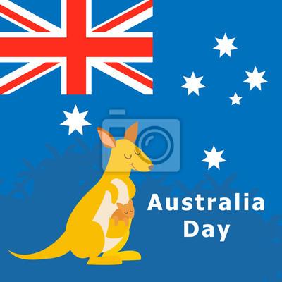 Australien-Tag. Abbildung.