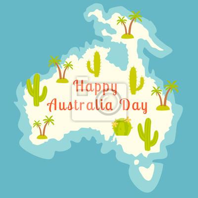 Australien-Tag. Abbildung