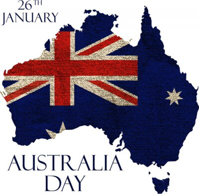Fototapete Australien-Tagesplakat