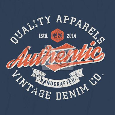 024f5824a02db3 Fototapete Authentischer Vintage Denim Co. - T-Shirt Design Für Druck