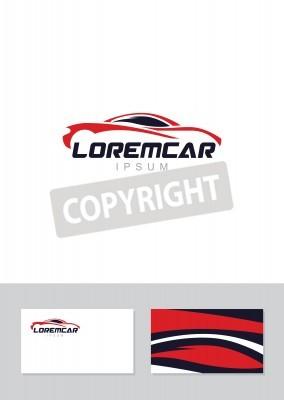 Auto Abstrakte Linien Vektor Logo Design Konzept Mit