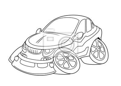 Fototapete Auto Ausmalbilder Cartoon Isoliert Bild Abbildung