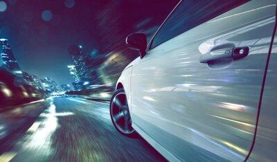 Fototapete Auto in der Nacht