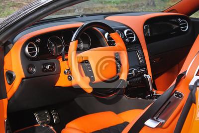 Interieur auto  Auto interieur luxus service. auto innenraum details. blick auf ...